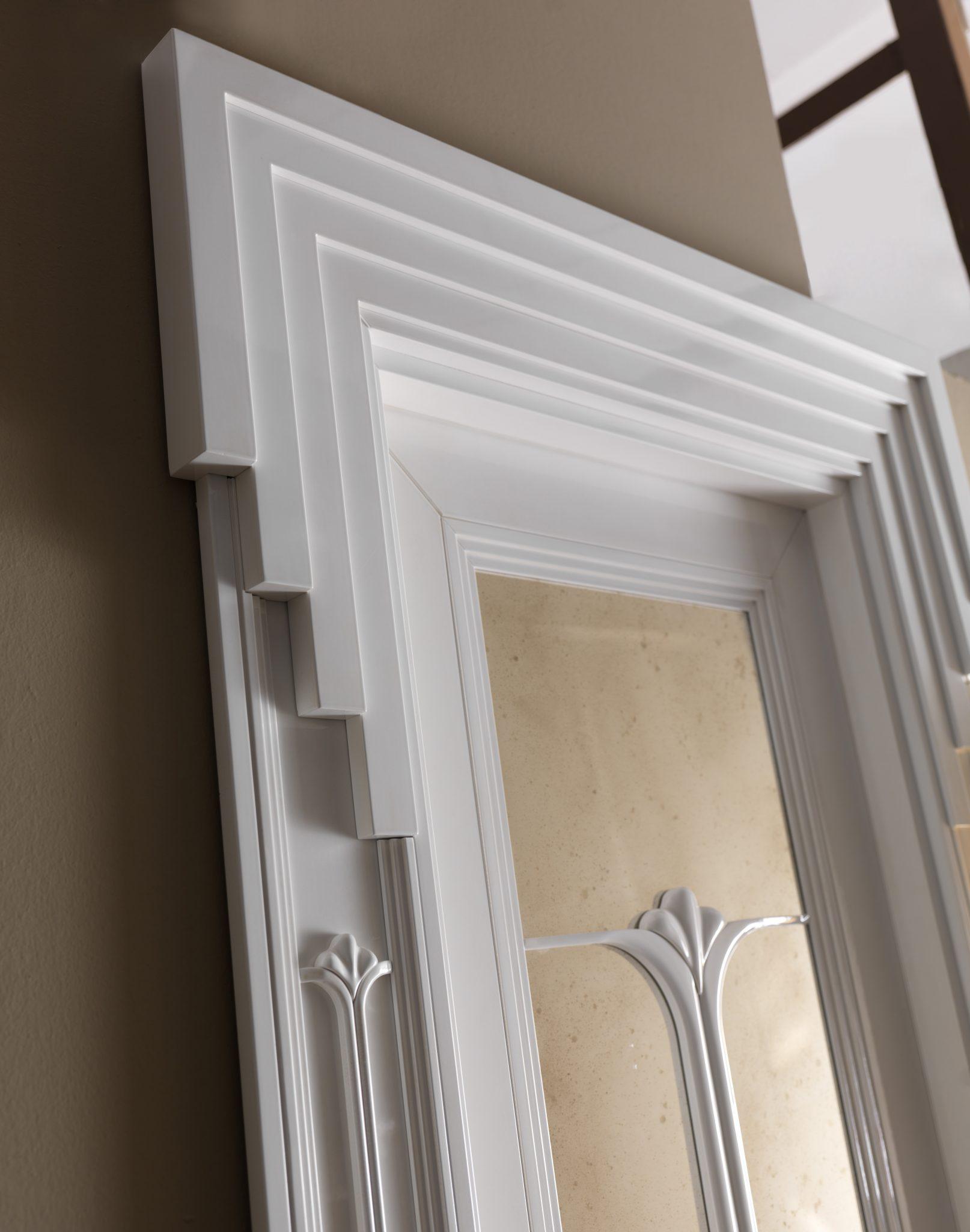 New design porte expo1925 12 finitura laccato bianco - Specchio anticato ...