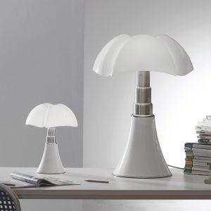 PIPISTRELLO Martinelli luce Elegante klassiker Designer Wohnzimmerlampe - Tischleuchte - Sideboardleuchte Gae Aulenti 15