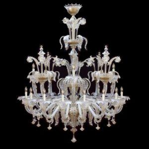 VILLA - Luxus Kronleuchter handgefertigt aus Murano Glas