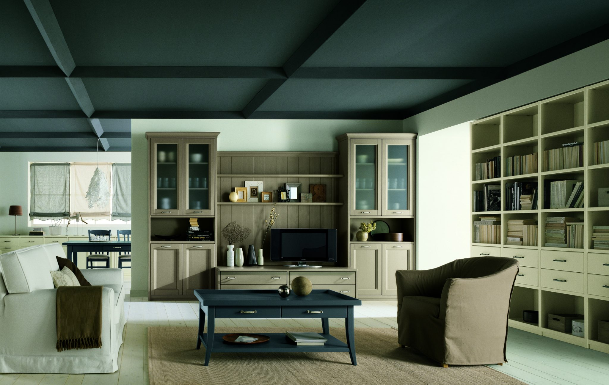 wohnbereich 1. Black Bedroom Furniture Sets. Home Design Ideas