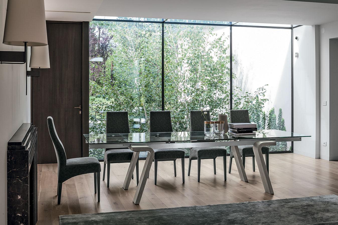 OMNIA - Tisch mit Glasplatte | madeinitaly.de