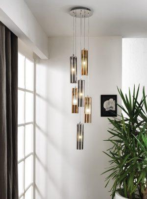 Cangini & Tucci TAO Mundgeblasene Glas Moderne Elegante Pendel Hängelampe Leuchten Esstischlampen TREPPENBELEUCHTUNG 2