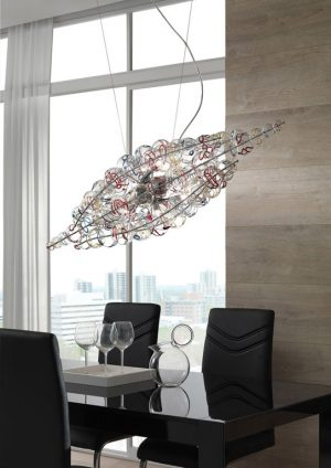 Cangini & Tucci MICHELINO NUVOLA Mundgeblasene Glas Moderne Rappresentative Pendelleuchte Esstisch