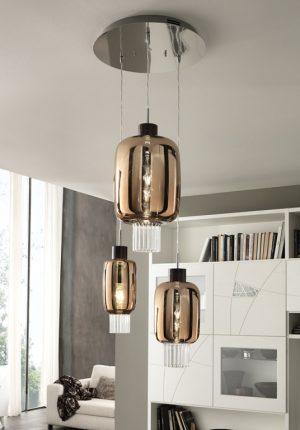 Cangini & Tucci DOLIUM Mundgeblasene Glas Moderne Elegante Pendel Hängelampe Leuchten Treppenbeleuchtung