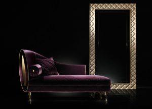 Sipario Arredo classic Adora luxus Samt Recamiere Chaiselongue Longchair Ottomane 3