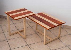 Couchtischpaar-aus-Padouk -und-Eschenholz