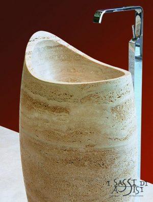 sassi di Assisi Marmor Naturstein Waschtischsäule waschblock maßanfertigung Waschbecken 11