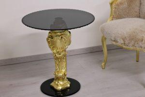 Oscar Holz und Glass Klein Tisch-orsitalia