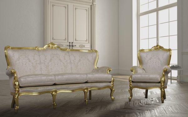 RE SOLE klassisch Gold-Sofa-orsitalia