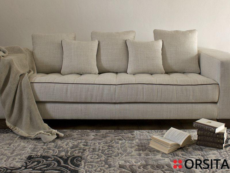 BRUNELLESCHI-orsitalia-Modern-Stoff und Leder-Sofa
