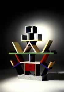 Buchregal Carlton_Ettore Sottsass Memphis Photo Credit Aldo Ballo