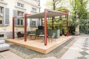 Corradi Celeb moderne terrasse Pergola - Gazebo - Pavillon mit seitenwänden und Sonnenschutz 5