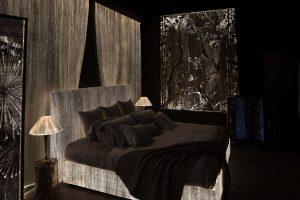 BedLux - Beleuchtet Bettwäsche Led Polsterbett Stoff licht optische Faser Dreamlux