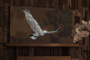 BIRD Vogel Textil-Bild Hightech-Textilien Glasfasern Gewebe beleuchtet Stoff dreamlux