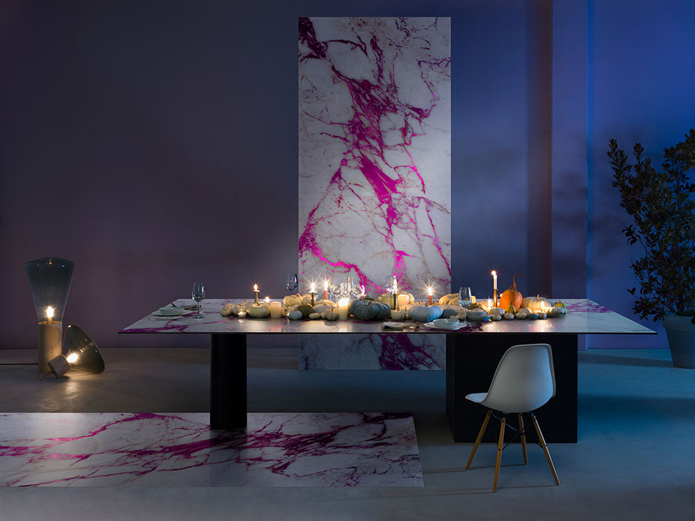 Sicis Electric-Marble-Cal-Fuxia marmorplatte