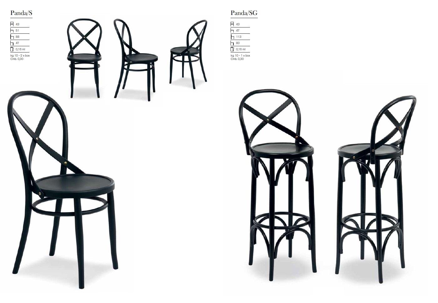 PANDA - Hocker und Stühle aus Holz | madeinitaly.de