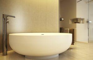 gold-runde-freistehende-badewanne
