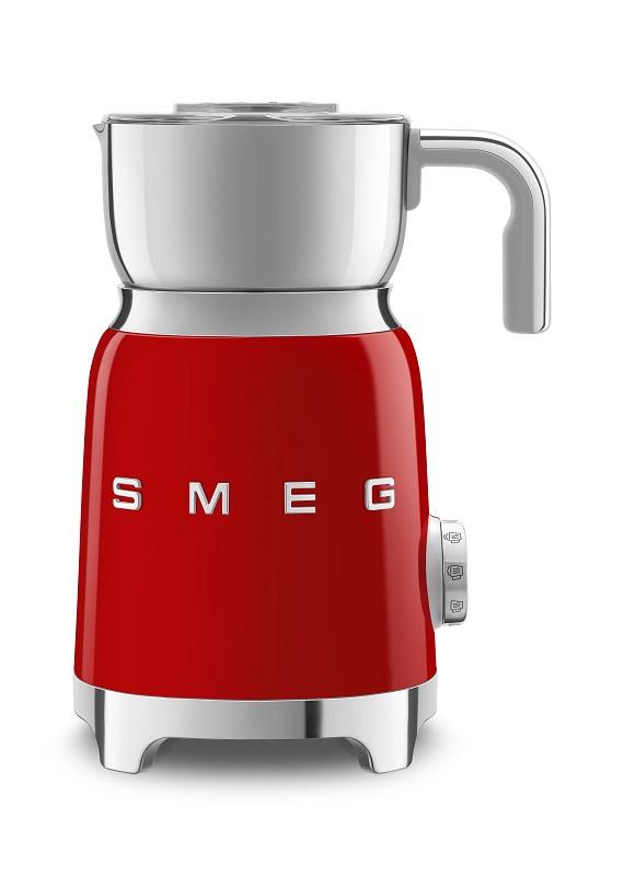 smeg Retro-Style Milchaufschäumer rot