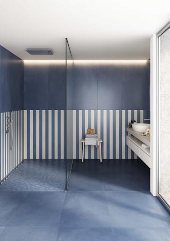 Casalgrande Padana Keramik Fliesen tendenzen 2020 R evolution _blue stripes