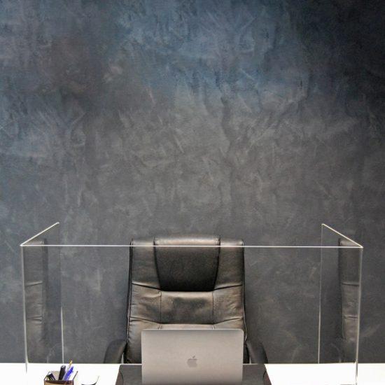 Vesta Transparenter Plexiglas-Tischtrenner arbeitsplatz kunden Schutz Corona virus infektion 6