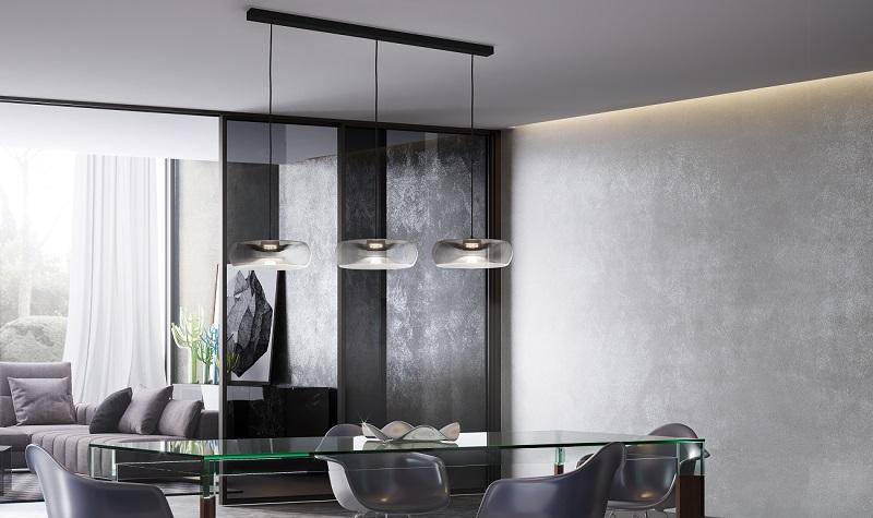Cangini & Tucci FOLD Mundgeblasene Glas Led Decken Pendel Leuchte Hohenverstellung Esstischbeleuchtung Designerlampen tisch