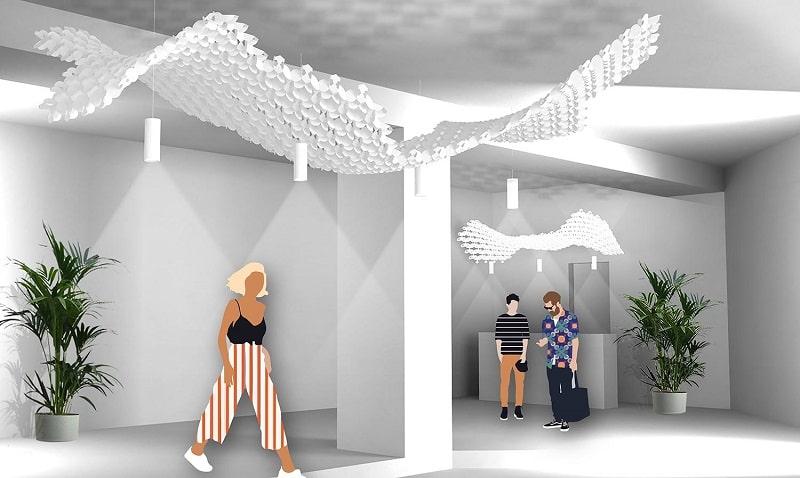 Slamp NUVEM DEKORATIVE Modulares Decken-Wand system mit licht rendering geschäft-min