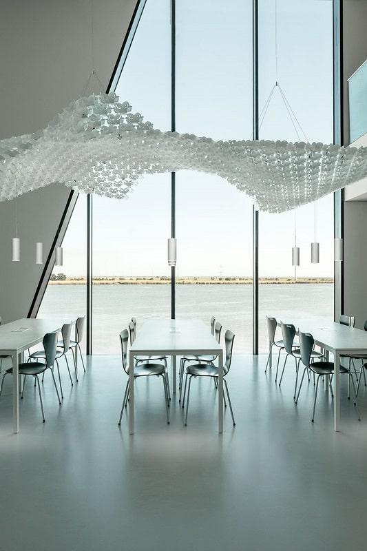 Slamp NUVEM DEKORATIVE Modulares Decken-Wand system mit licht rendering offentliche fläche 2-min