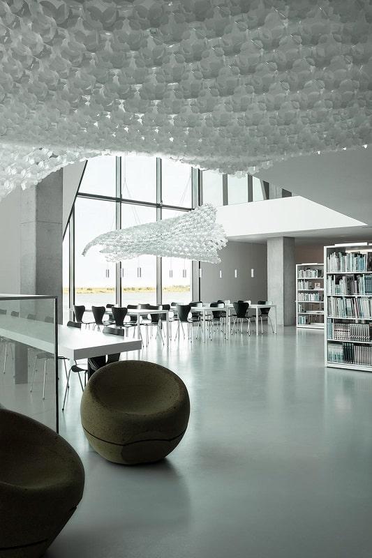 Slamp NUVEM DEKORATIVE Modulares Decken-Wand system mit licht rendering offentliche fläche-min
