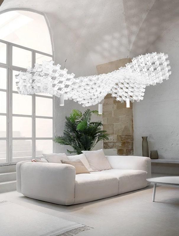 Slamp NUVEM DEKORATIVE Modulares Decken-Wand system mit licht wohnzimmer 2-min