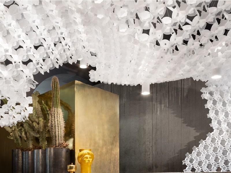 Slamp NUVEM DEKORATIVE Modulares Decken-Wand system mit licht wohnzimmer 3-min