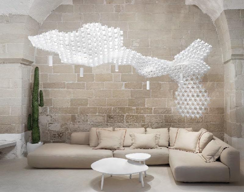 Slamp NUVEM DEKORATIVE Modulares Decken-Wand system mit licht wohnzimmer-min