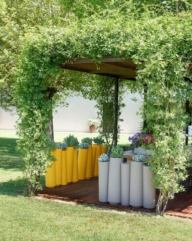 slide pot-bamboo-mobile Raumteilung Abtrennung dekorativ COVID-19 Infektions schutzmaßnahmen für Gastronomie restaurant 3
