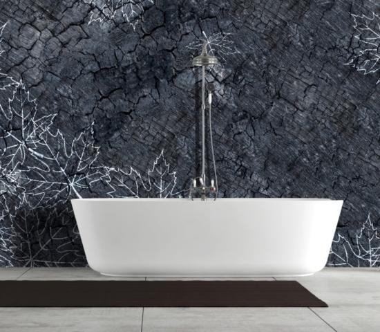 Instabilelab burned dekorative Wandtapete Badezimmer Ambiente inspirationen einrichten Traumbad-min
