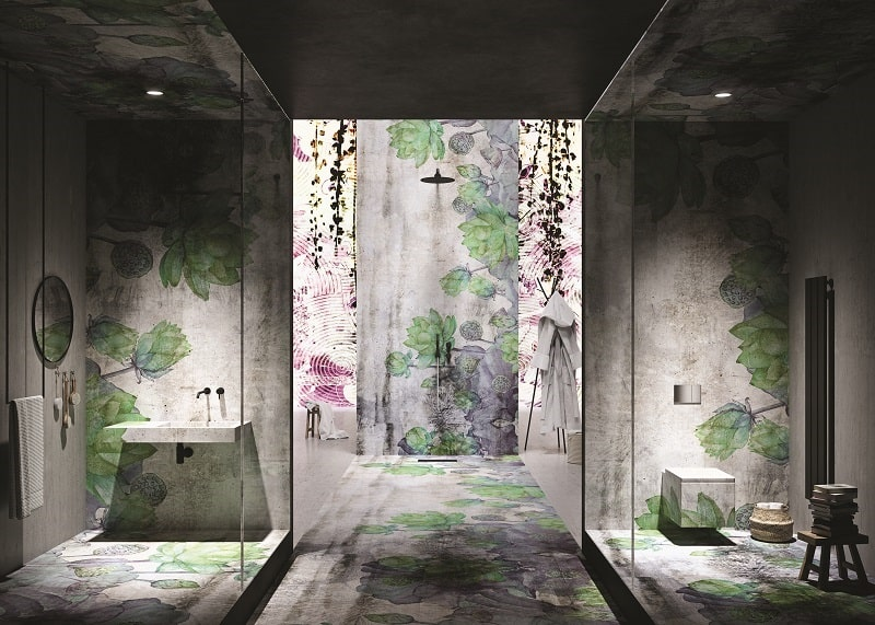 Instabilelab_Custom-me_1 dekorative Wandtapete Badezimmer Ambiente inspirationen einrichten Traumbad-min