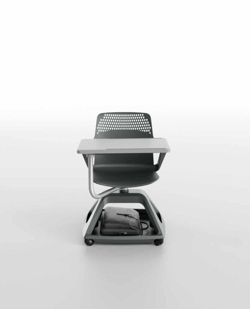 Ibebi ROVER EVO Konferenzstuhl mit Schreibtablar auf Rollen Klassenzimmerbestuhlung Seminarbestuhlung Seminarstühle 2