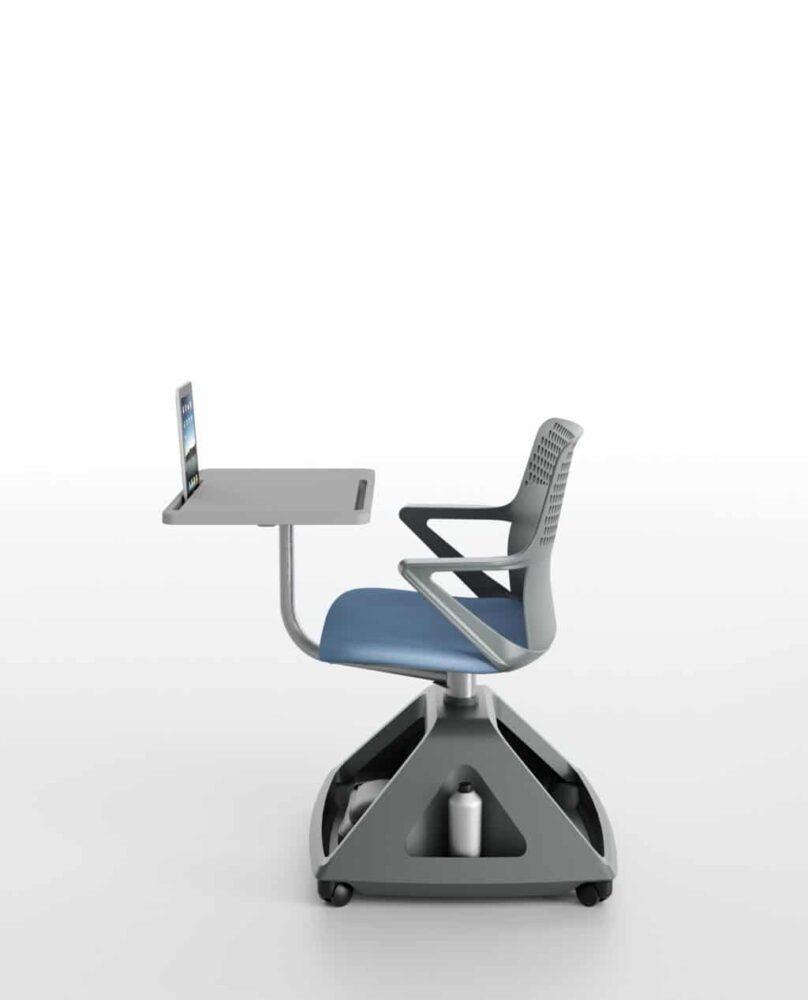 Ibebi ROVER EVO Konferenzstuhl mit Schreibtablar auf Rollen Klassenzimmerbestuhlung Seminarbestuhlung Seminarstühle 3