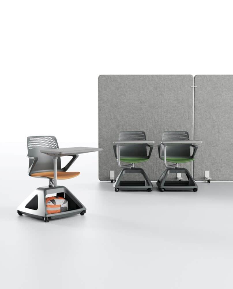 Ibebi ROVER EVO Konferenzstuhl mit Schreibtablar auf Rollen Klassenzimmerbestuhlung Seminarbestuhlung Seminarstühle 9