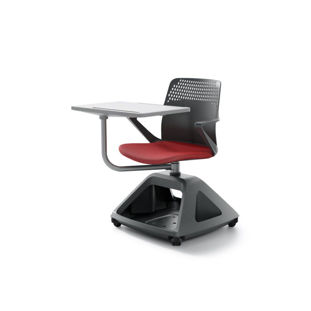 Ibebi ROVER EVO Konferenzstuhl mit Schreibtablar auf Rollen Klassenzimmerbestuhlung Seminarbestuhlung Seminarstühle