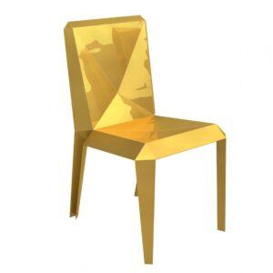 Altreforme LINGOTTO Goldbarren Design Stuhl Golddesign Sitzgruppe1
