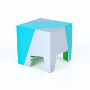Altreforme SISSI Designer Sitzhocker Pouf Bodenhocker blau