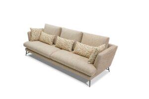 CUBO ROSSO TEMPO raffiniertes Funktionssofa schlichte moderne Couch Sitzsystem Wohnlandschaft