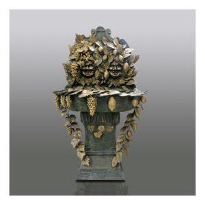 BACCHUSBRUNNEN_UND_LIMONCELLO_klassische_brunnen_bronzebrunnen_bronze_und_gruene_patina_Kunsthandwerke