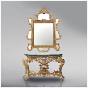 TOILETTENTISCH_klassische_Toilettentisch_tischmitspiegel_gold_Kunsthandwerke
