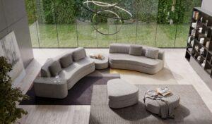 MILANO BEDDING GOODMAN modulares Designer Bettsofa moderne Schlafcouch Wohnlandschaft