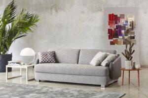 MILANO BEDDING FREDDIE avantgardisches Sofa mit Bettfunktion hochwertige Schlafcouch Polstermöbel